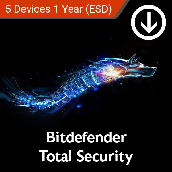 bitdefender total security 5 devices 1 year esd
