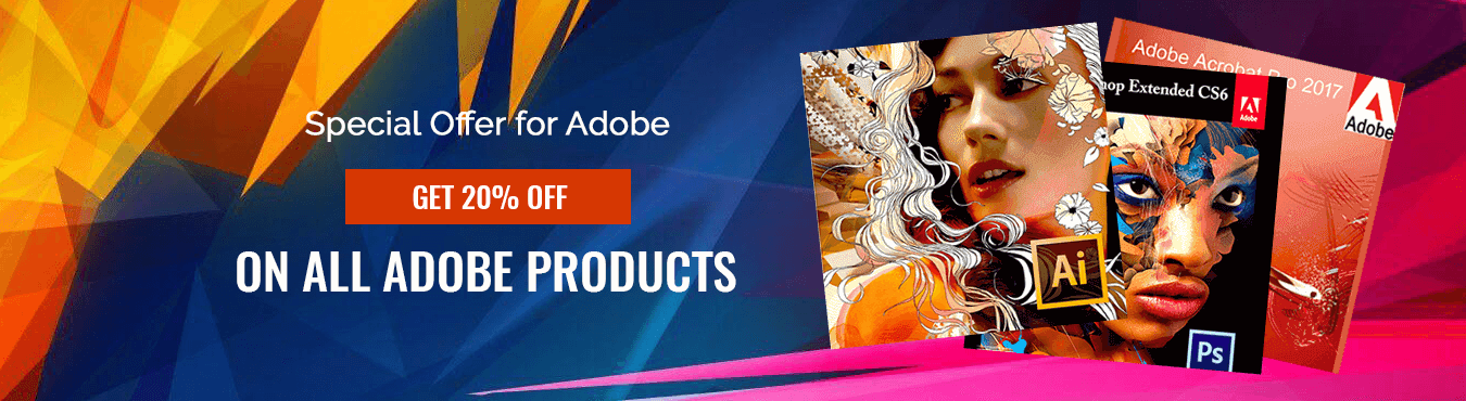 Adobe product sale banner