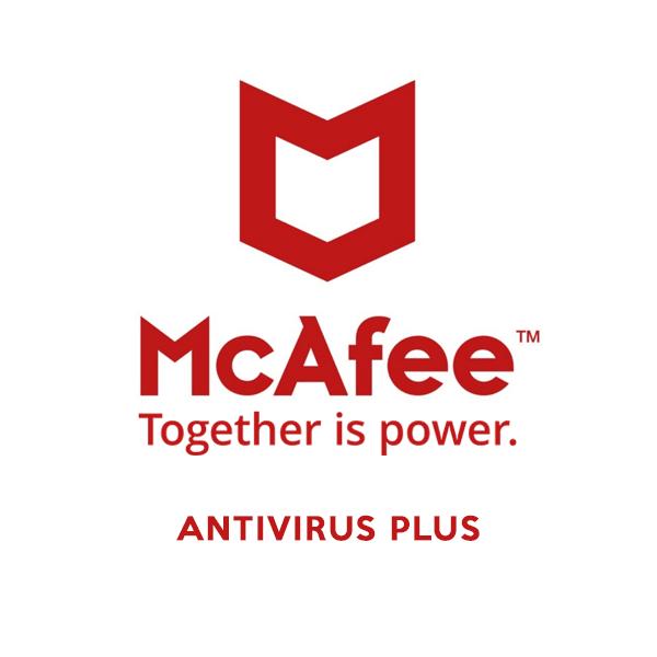 mcafee antivurus plus brand logo