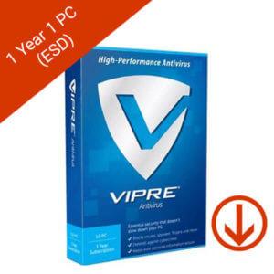 vipre antivirus 1 year 1 pc esd