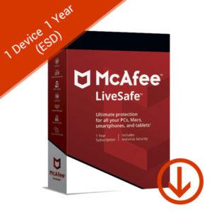 mcafee livesafe 1 device 1 year esd