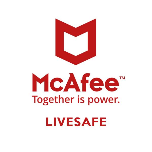 mcaffee livesafe 2019 brand logo