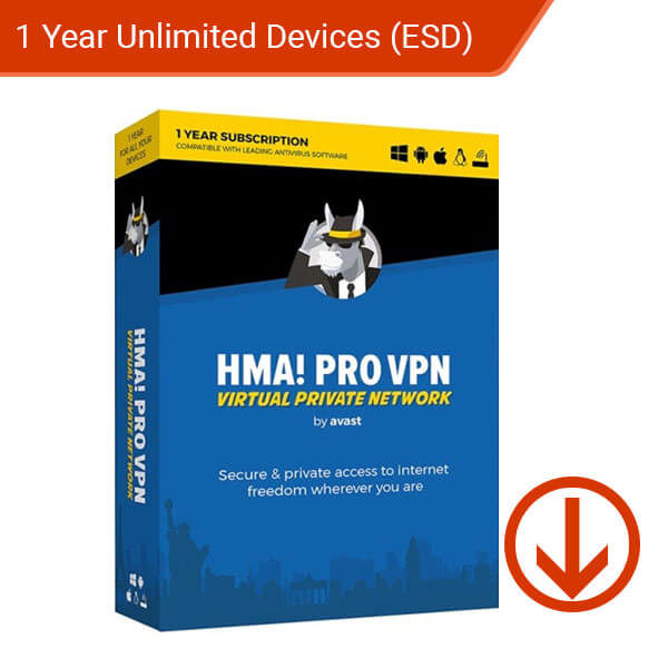 Avast! Hide My Ass! Pro VPN 2019 1 Year Unlimited Devices – 1