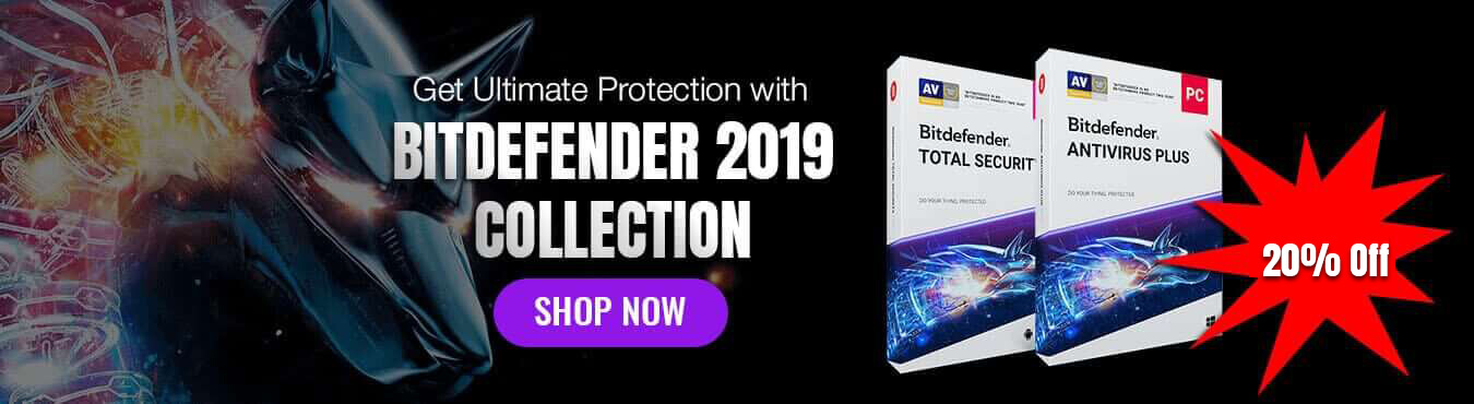 bitdefender collaction 2019 banner shop now for softvire online shop