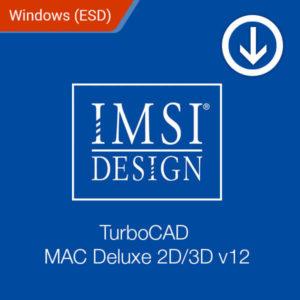 TurboCAD MAC Deluxe 2D 3D v12 ESD