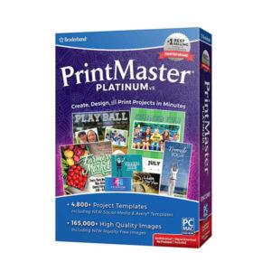 Broderbund Printmaster 8 Platinum box