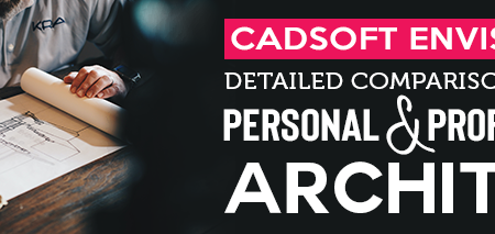 cadsoft envisioneer: detailed comparison between personal and professional architect