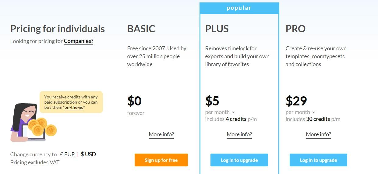 interior design software floorplanner price