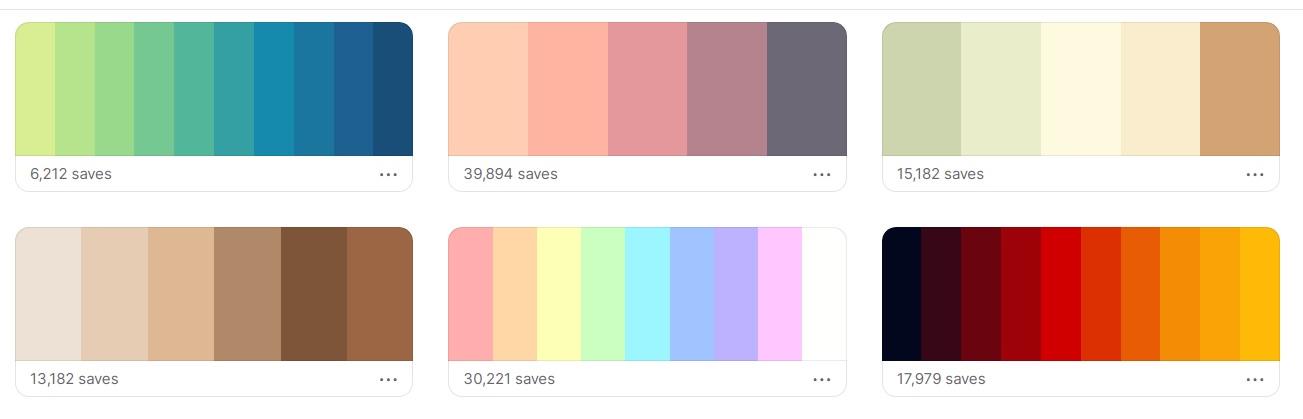 coolors trending palette design tools