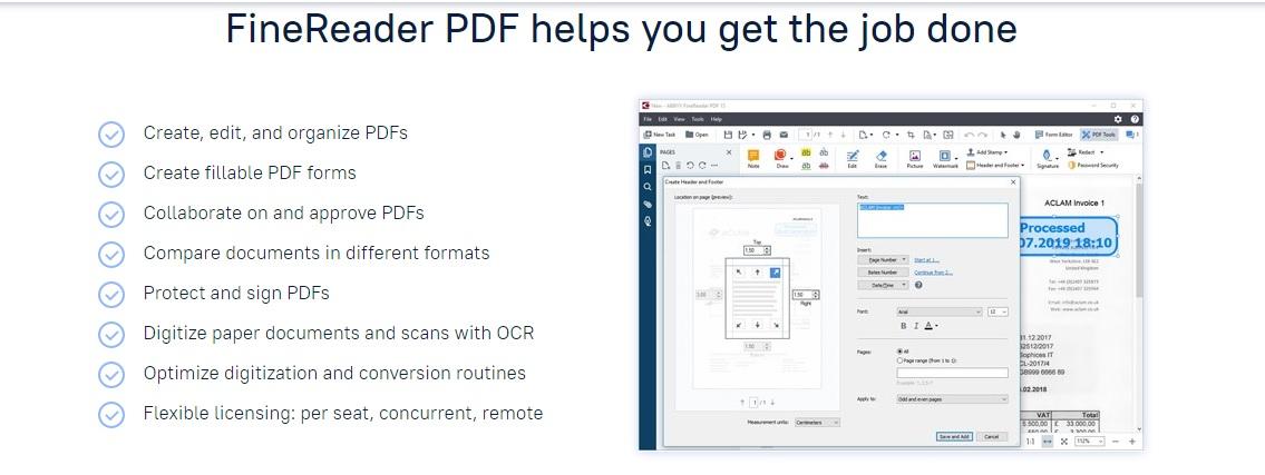 Abbyy FineReader OCR Software